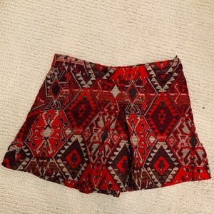 red and white girl skirt